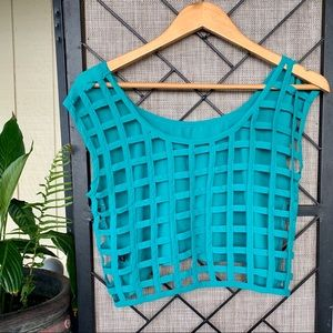 Poetry Turquoise Cut Out Checkered Back Small